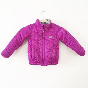 Girls NorthFace Fuchsia Coat